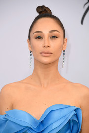 Cara Santana styled her hair into a tight top knot for the 2019 SAG Awards.