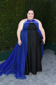Chrissy Metz looked regal in a two-tone halter gown by John Paul Ataker at the 2019 SAG Awards.