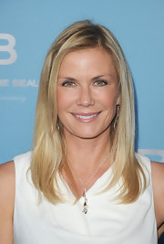 Katherine Kelly Lang attended the 25th Anniversary Party for 'The Bold and the Beautiful' wearing her blond hair in soft straight layers.