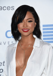 Karrueche Tran kept it classic with this side-parted bob at the EMA Awards.