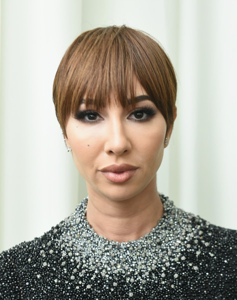 Jackie Cruz kept it simple with this short 'do at the 2018 Elton John AIDS Foundation Oscar-viewing party.