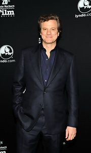 Colin is supremely dapper in a classic wool suit at the Santa Barbara International Film Festival.