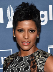 Tamron Hall was rocker-chic with her fauxhawk at the 2016 GLAAD Media Awards.