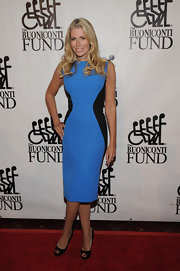 Aviva Drescher donned a colorblock dress at the 27th Annual Great Sports Legends Dinner.