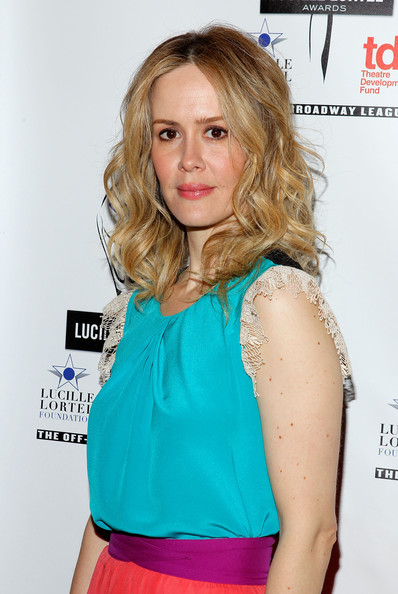 More Pics of Sarah Paulson Medium Curls (1 of 4) - Shoulder Length Hairstyles Lookbook - StyleBistro
