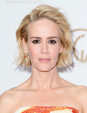 Sarah Paulson attended the Producers Guild of America Awards wearing her signature short waves.