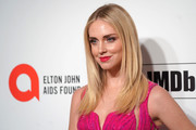 Chiara Ferragni sported a stylish layered cut at the 2020 Elton John AIDS Foundation Oscar-viewing party.