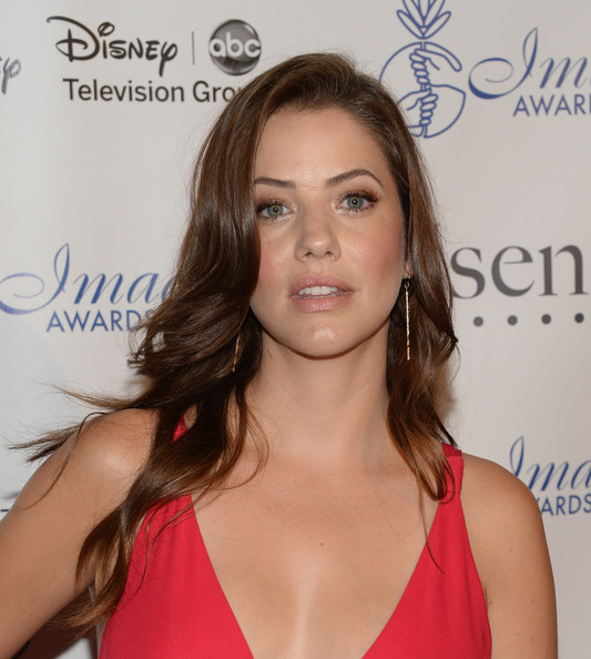 More Pics of Julie Gonzalo Evening Dress (1 of 9) - Julie Gonzalo Lookbook - StyleBistro [hair,hairstyle,shoulder,blond,beauty,eyebrow,lip,chin,brown hair,long hair,arrivals,julie gonzalo,imagen awards,the beverly hilton hotel,beverly hills,california,annual imagen awards]