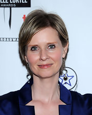 Cynthia Nixon wore her short hair in a minimally styled side part when she attended the Lucille Lortel Awards.