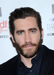 Jake Gyllenhaal sported a cool slicked-back 'do at the Lucille Lortel Awards.