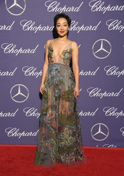 Ruth Negga enchanted in a sheer, beaded gown by Valentino at the Palm Springs International Film Festival.