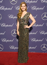 Amy Adams was girly and sophisticated in a floral-beaded gown by Altuzarra at the Palm Springs International Film Festival.