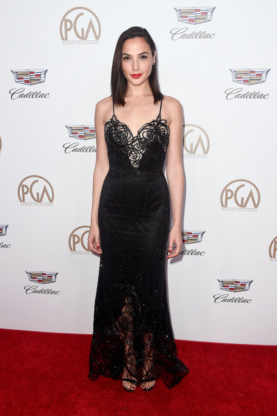 In Armani Privé At The Producers Guild Awards, 2018