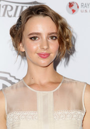 Natasha Bassett swept her hair up in a vintage-chic 'do for the Australians in Film Awards Gala.