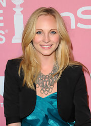 Candice Accola topped off her look with a sassy layered cut when she attended the Golden Globes Young Hollywood party.