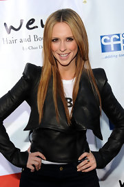 Jennifer Love Hewitt wore her hair sleek and straight for the second annual Wisteria Lane block party.