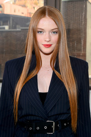 Larsen Thompson gave us hair envy with this pin-straight 'do at the 3.1 Phillip Lim fashion show.