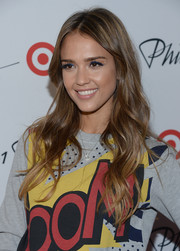 Jessica Alba looked oh-so-pretty with her flowing waves at the 3.1 Phillip Lim for Target launch event.