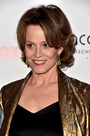 Sigourney Weaver styled her short hair with flippy waves for the American Cinematheque Awards.