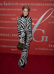Julie Macklowe was a show stopper in a zebra-print evening dress by Tom Ford during the Annual Night of Stars.