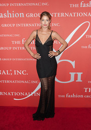 Doutzen Kroes smoldered in a black mesh-panel evening dress by Missoni during the Annual Night of Stars.