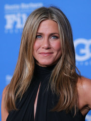 Jennifer Aniston wore her usual center-parted style when she attended the Santa Barbara International Film Festival.
