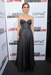 Natalie Portman looked simply divine in a strapless gray gown by Christian Dior Couture at the American Cinematheque Award.