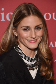 A spiky statement necklace added a bit of an edge to Olivia Palermo's look.