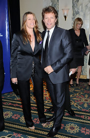 Dorothea Hurley arrived at the Police Foundation Gala in a sleek black pantsuit.