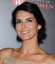 Angie Harmon attended the Gracie Awards wearing a disheveled-chic updo.