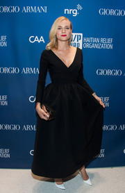 Diane Kruger looked breathtakingly elegant in a long-sleeve, V-neck gown by Preen during the Help Haiti Home Gala.