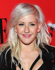 Ellie Goulding swept on lots of metallic silver shadow along with glittery liner for the 3rd annual 'Elle' Women in Music event.