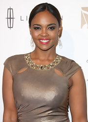 Sharon Leal wore a pair of two-toned double drop diamond earrings at the 3rd Annual 'Essence' Black Women in Music event.