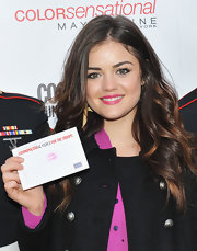 Lucy Hale brightened her sweet smile with shiny hot pink lipstick at the 3rd Annual Kisses for the Troops event.