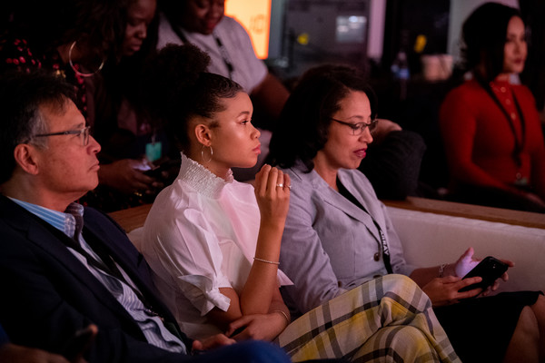 More Pics of Storm Reid Afro Puff (1 of 15) - Storm Reid Lookbook - StyleBistro [people,audience,event,youth,crowd,design,performance,conversation,convention,los angeles,california,national day of racial healing,national day of racial healing at array,storm reid]