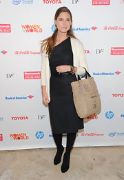 Lauren Bush looked sophisticated at the Women in the World Summit in this LBD.