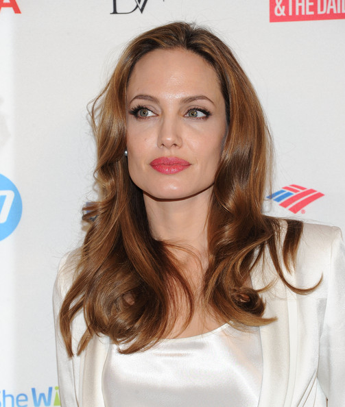 More Pics of Angelina Jolie Long Wavy Cut (3 of 21) - Angelina Jolie Lookbook - StyleBistro