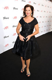 Marcia Gay Harden partnered her dress with embellished slingbacks.