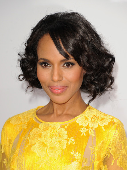 How to DIY Kerry Washington's Pinned-Up Faux Bob