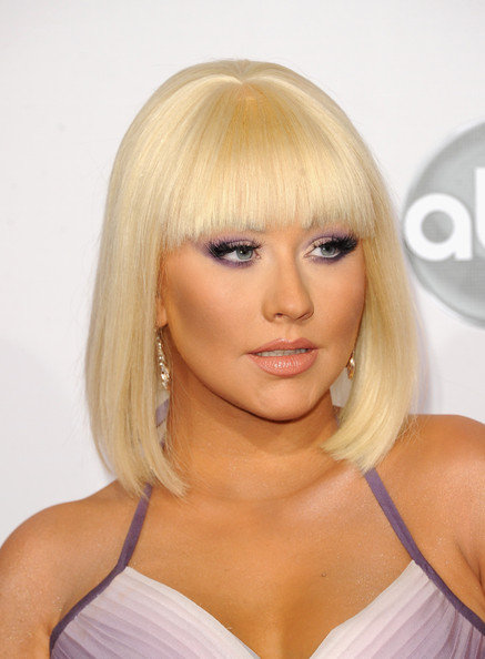 More Pics of Christina Aguilera Mid-Length Bob (4 of 22) - Christina Aguilera Lookbook - StyleBistro