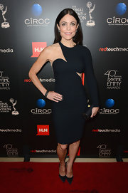 Bethenny sported a totally modern one-shouldered cutout LBD at the Daytime Emmy Awards.