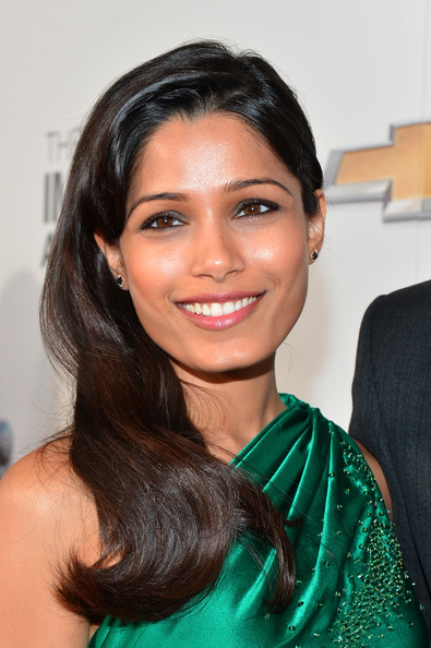 More Pics of Freida Pinto Long Straight Cut (5 of 25) - Freida Pinto Lookbook - StyleBistro