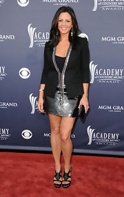 Sara Evans donned knockout intricate black platform sandals to the Academy of Country Music Awards.