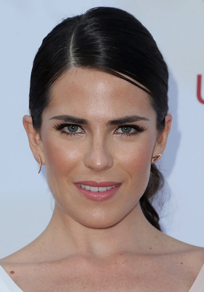 Karla Souza swept her hair back into an elegant ponytail for the NAACP Image Awards.