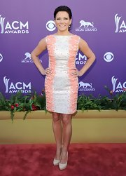 Martina McBride donned a simple cut dress with thick beading at the Academy of Country Music Awards.