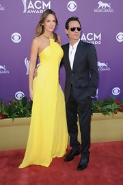 Marc Anthony's new arm candy, Shannon de Lima, wore this lemon gown to the Academy of Country Music Awards.