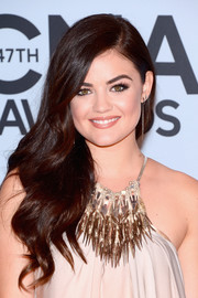 Lucy Hale wore her hair down in luxurious waves for the CMA Awards.