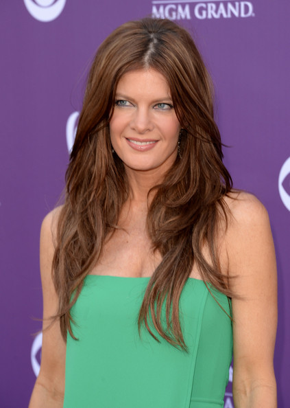 To top off her minimal makeup look, Michelle Stafford chose a nude lip gloss to add some shine to her pout.