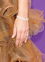 She may have worn a funky punk dress, but Tobi Lee kept her jewelry minimal when she sported this elegant diamond bracelet.