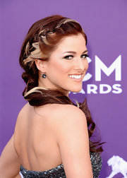 Cassadee Pope rocked a side French braid that showed off her platinum blonde streak perfectly.